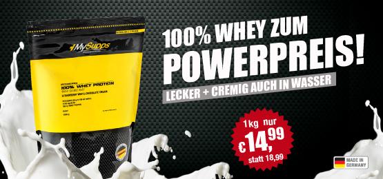 100% Whey zum Powerpreis!